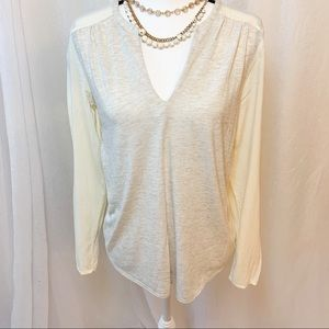 Lucky Brand Cream Woman's L Blouse